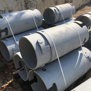 L'immagine mostra i tubi di riempimento prodotti da Tescm Osimo Italy